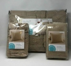 Martha Stewart Collection Basket Stitch Full/Queen Quilt (Tan) Bedding +... - $77.48
