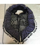 Lace Scarf Shawl Wrap Church Mantilla Scarf Layered Ruffle Black Frill F... - $15.19