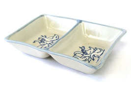 Louisville Stoneware Gaggle Of Geese Two Part Relish Dish - $9.41