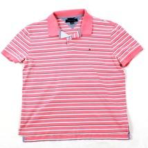 Tommy Hilfiger Corail Polo Rayé Coton Col Manches Courtes Chemisier T-Shirt - $16.95