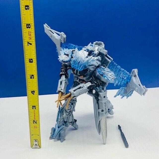 Transformers action figure robot toy Hasbro manual 2007 Megatron plane jet blue