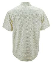 LW Men's Western Cowboy Pearl Snap Cotton Light Yellow Rodeo Dress Shirt 2XL image 2
