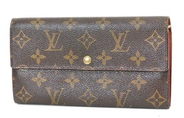 Authentic LOUIS VUITTON Sarah Long Wallet Monogram Zippered Coin Purse #... - $235.00