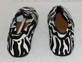 Izzy Mico Slip On Flat Rubber Sole Zebra Print Size Seven image 4