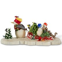 Lenox Bringing Home The Tree Snowman Figurine Bywaters Christmas RARE CO... - $255.00