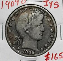 1909O Silver Barber Half Dollar 50¢ Coin Lot# A 615