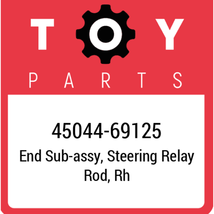 45044-69125 Toyota Tie Rod End, New Genuine OEM Part - $36.53