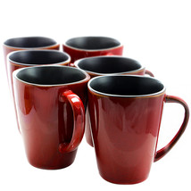 MEGA-EL-HARLAND-6PC-CUPS Elama Harland 14 Ounce 6 Piece Luxe and Large S... - $40.78