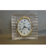 Mikasa SUTTON PLACE Crystal Mantle / Table Clock - $24.99