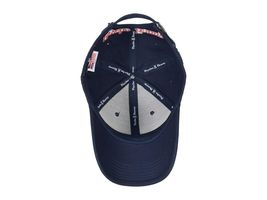 Psycho Bunny Men's Navy Embroidered Strapback Hat Sports Cotton Baseball Cap image 4