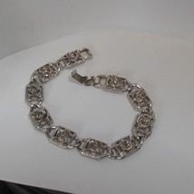"""Vintage Signed Sarah Coventry Antique Rose Link Bracelet 7.5"""" - $15.99"""