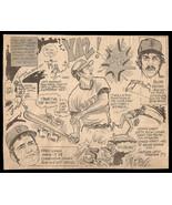 Yaz Lynn Heise Red Sox Twins Sports Cartoon Newspaper Clip Baseball Sketch  - $12.99