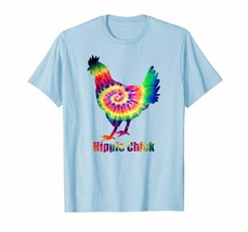 Hippie Chick Tie Dye Chicken Funny TShirt Gift Ideas For Her - $16.97+