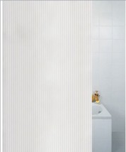 Textile Stripe White Heavy Weight Polyester Shower Curtain 180 x 180cm - $21.76