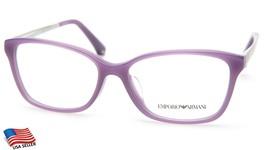 New Emporio Armani EA3026F 5128 Trans Lilac Eyeglasses Frame 54-15-140 B38mm - $73.49