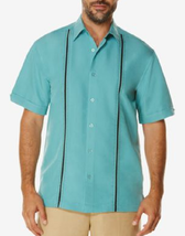 Cubavera Men's Contrast Stitch Short-Sleeve Shirt,Bristol Blue, Size M, ... - $29.69