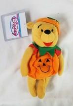 """Pumpkin Pooh 8"""" Winnie The Pooh Bear Plush Bean Bag Disney NWT - $6.11"""