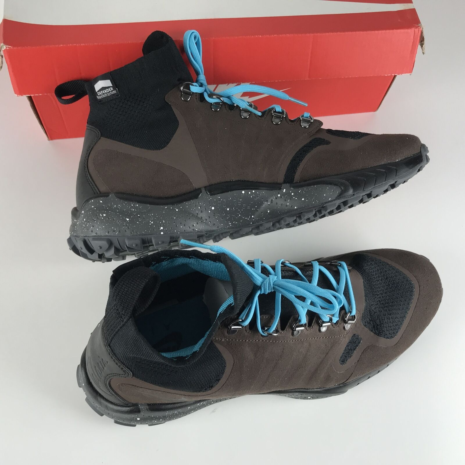 Nike Zoom Talaria Mid Flyknit Brown Gamma Blue Men's size 10 856957 200 NEW image 6