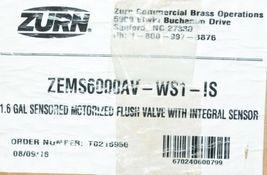 Zurn ZemS6000AV WSI IS Sensored Motorized Flush Valve Integral Sensor image 3