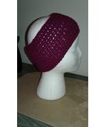 Handmade Crochet Headband/Ear Warmer/Raspberry - $13.00