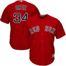 Men's Boston Red Sox David Ortiz #34 Scarlet Polyester Cool Base Player ... - $54.99