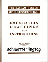 1940s 1950s Haslam Draft Pattern Making Book Foundation Draftings w Inst... - $14.99