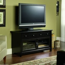 Black TV Stand Flat Screen 44 Inch Television Entertainment Center NEW d... - $157.00