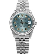Blue diamond cadran lunette Rolex SS regarder j... - $3,817.95