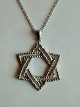 nice star of david pendant and chain - $19.75