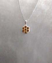 lab created yellow sapphire pendant and chain - $39.55