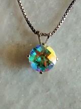 beautiful mercury mist topaz pendant and chain - $39.55