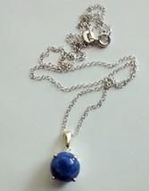 beautiful sodalite pendant and chain - $39.55