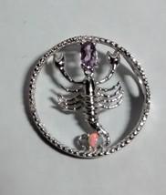 beautiful scorpion pendant and chain - $69.25