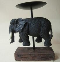 Candle Holder Elephant Pillar - $12.04
