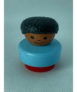 Vintage 1990 Fisher Price Little People African American Black Boy Figure - $9.90
