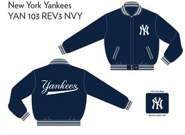 JH Design NY Yankees Wool Reversible Jacket  - $109.95