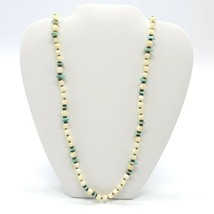 Miriam Haskell 1960s Opalescent Art Glass Faux Turquoise Beaded Necklace - $98.99