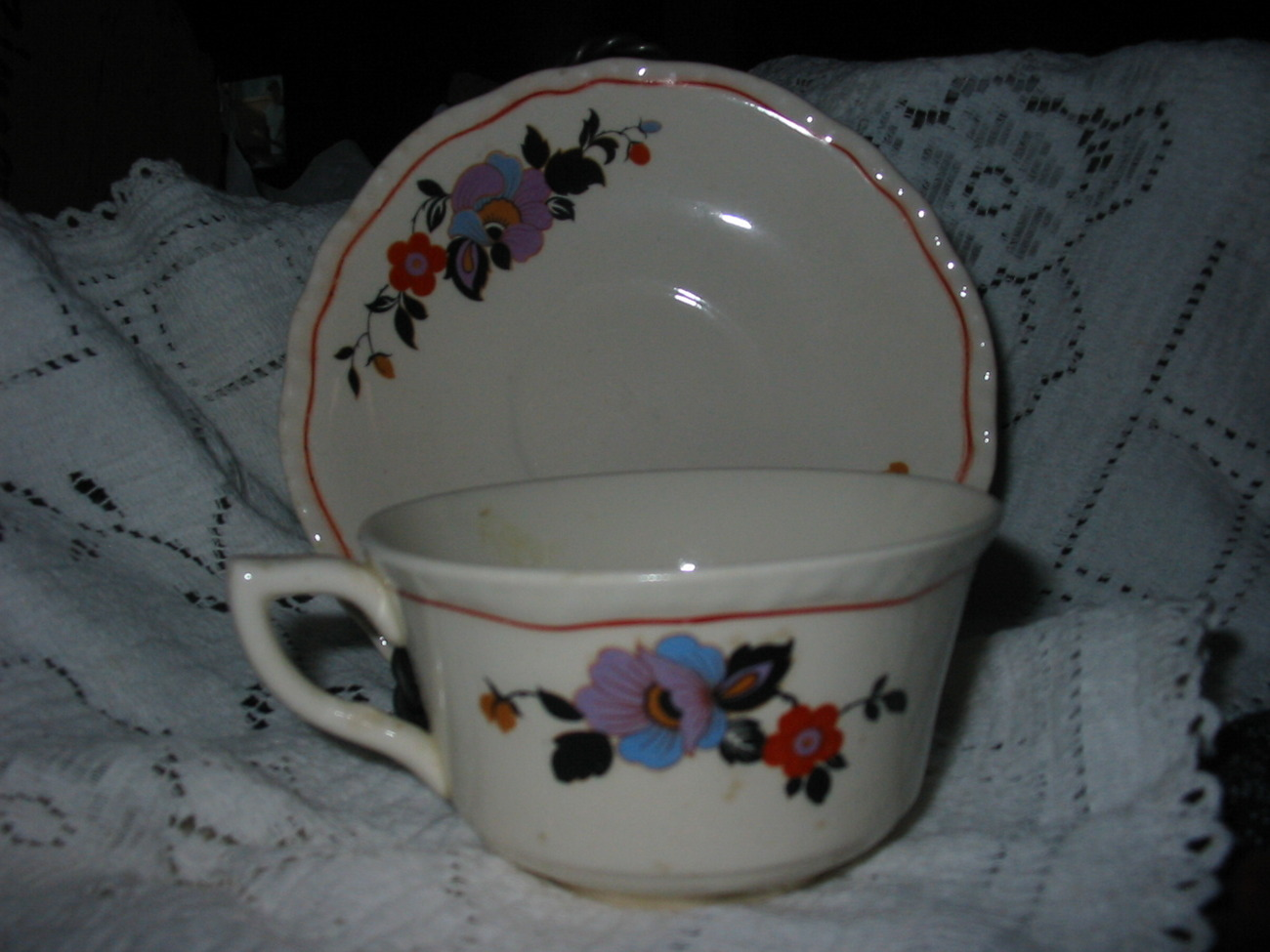 Steubenville Ivory Cup and Saucer Set BONUS!