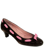 Marc by M Jacobs quilted velvet pumps sz 39.5 pink grosgrain bow shoes N... - $100.00