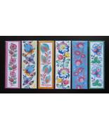 Flower Art Print Bookmarks Ornamental Decorative Bookmarks Handmade Set ... - $9.00