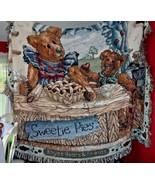 "Boyds Bear Teddy Bear ""Sweetie Pies"" throw tapestry blanket  51"" x 72"" - $38.00"