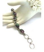 Rare Ruby Zoisite Handmade 925 Sterling Silver  - $73.60