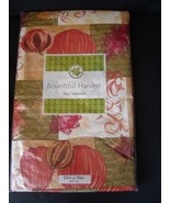 Fall Themed Vinyl Tablecloth 52x70 Oblong Pumpk... - $6.99