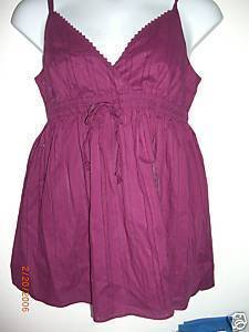NWT Womens Gap Babydoll Tank Top Magenta L Large Gap