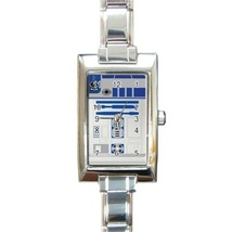 Ladies Rectangular Italian Charm Watch Star Wars R2-D2 Robot  model 3014... - $11.99