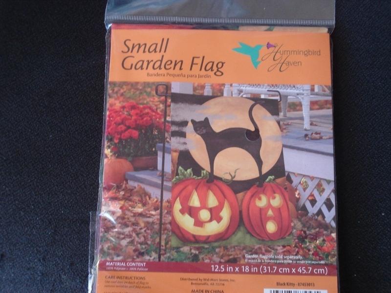 Black Cats and Pumpkin Garden Flag by Hummingbird Haven