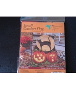 Black Cats and Pumpkin Garden Flag by Hummingbi... - $5.99