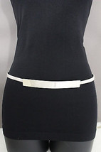 New Women Belt Hip High Waist Elastic Silver Metal Long Plate Buckle Fas... - $16.64