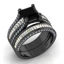 Black Gold Engagement Ring Set - $2,100.00