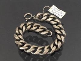 Vintage SARAH COV Jewelry Silver Tone Link Chain Bracelet 9'' Length - $30.00
